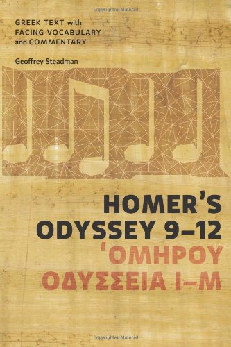 Homer's Odyssey 9-12 Greek Text with Facing Vocabulary and Commentary N/A edition cover
