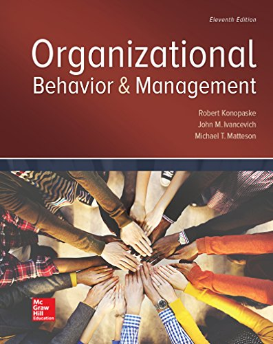 Organizational Behavior and Management:   2017 9781259894534 Front Cover