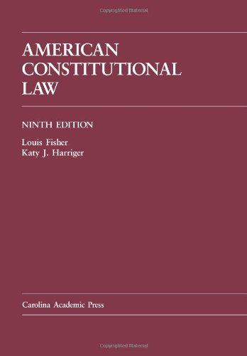 American Constitutional Law  9th 2011 edition cover