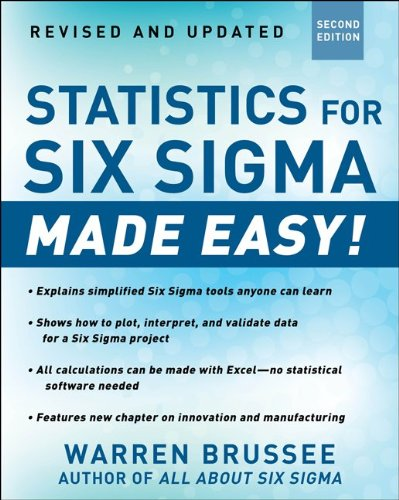 Statistics for Six Sigma Made Easy!  2nd 2012 (Revised) edition cover