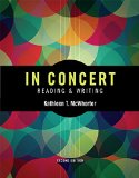In Concert: An Integrated Approach to Reading and Writing  2015 edition cover