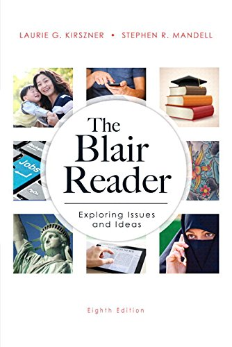 Blair Reader Plus MyWritingLab with Pearson EText -- Access Card Package  8th 2014 edition cover