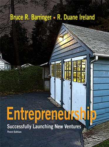 Entrepreneurship Successfully Launching New Ventures 3rd 2010 edition cover