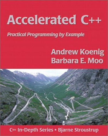 Accelerated C++ Practical Programming by Example  2001 edition cover