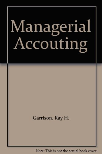 Managerial Accouting:  8th 1999 9780256237535 Front Cover