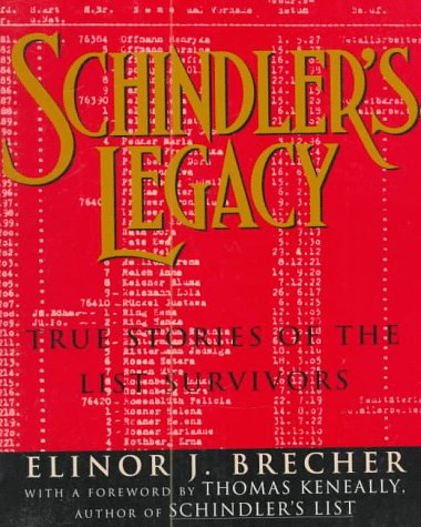 Schindler's Legacy True Stories of the List Survivors N/A edition cover