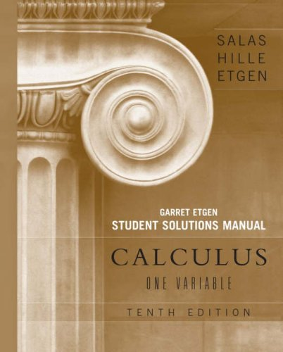 Calculus One Variable 10th 2007 edition cover