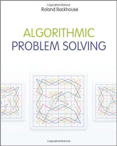 Algorithmic Problem Solving   2011 9780470684535 Front Cover