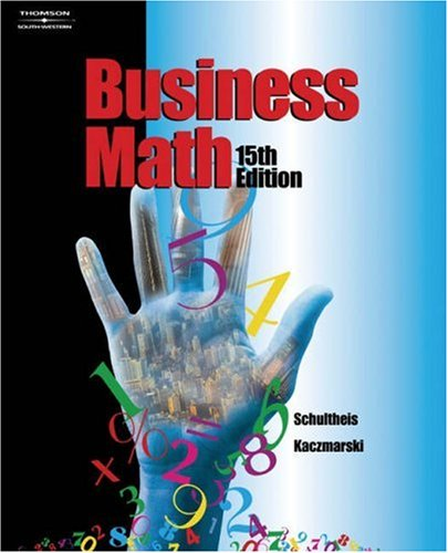 Business Math  15th 2003 (Revised) 9780538432535 Front Cover
