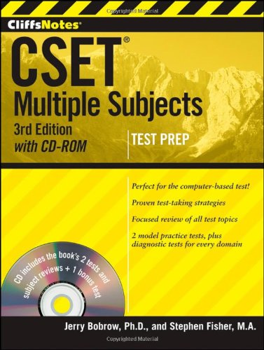 Cliffsnotes CSET Multiple Subjects 3rd 2012 9781118176535 Front Cover