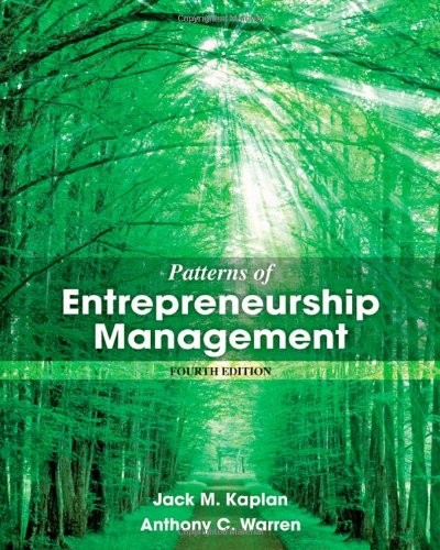 Patterns of Entrepreneurship Management  4th 2013 edition cover