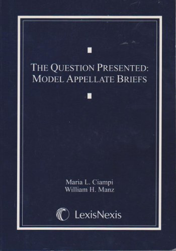 Question Presented : Model Appellate Briefs 2000 N/A edition cover