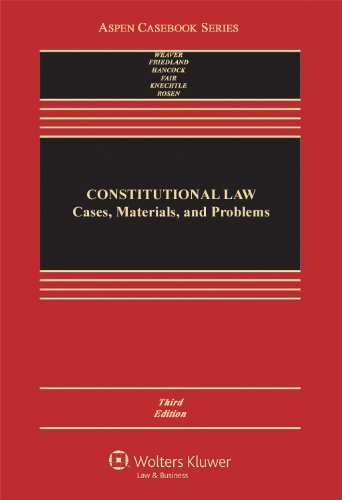 Constitutional Law Cases, Materials, and Problems 3rd (Revised) edition cover