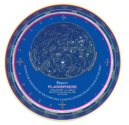 Firefly Planisphere Latitude 42 Degrees North  2003 (Revised) 9781552978535 Front Cover