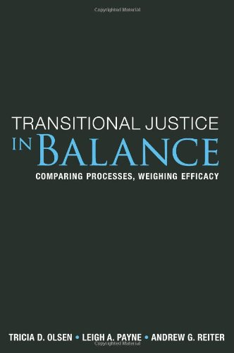 Transitional Justice in Balance Comparing Processes, Weighing Efficacy  2010 edition cover