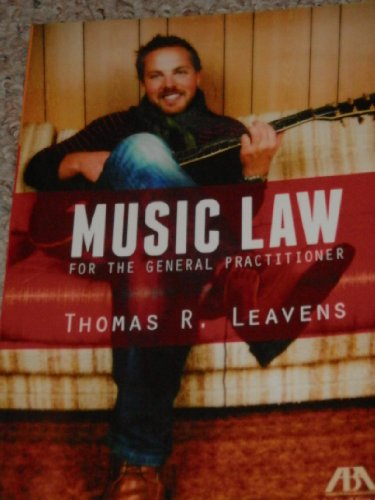 Music Law for the General Practitioner   2013 edition cover
