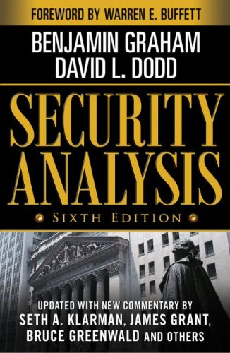 Security Analysis  6th 2009 edition cover