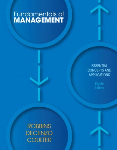 Fundamentals of Management Essential Concepts and Applications 8th 2013 (Revised) edition cover