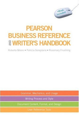 Pearson Business Reference and Writer's Handbook   2010 9780135140536 Front Cover