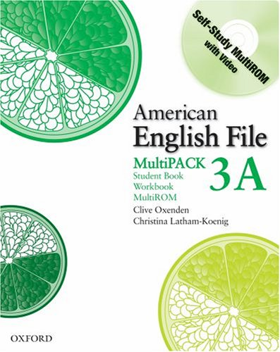 American English File  Student Manual, Study Guide, etc. 9780194774536 Front Cover