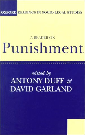 Reader on Punishment   1994 9780198763536 Front Cover