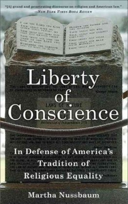 Liberty of Conscience In Defense of America's Tradition of Religious Equality  2010 edition cover