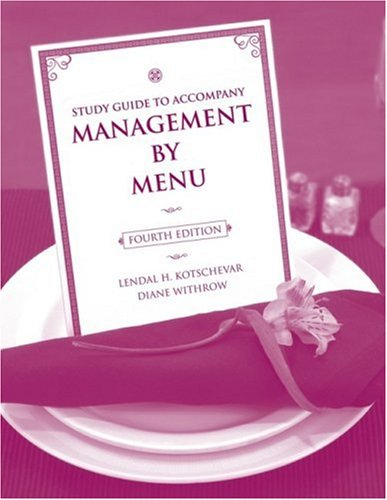 Management by Menu  4th 2008 (Revised) edition cover
