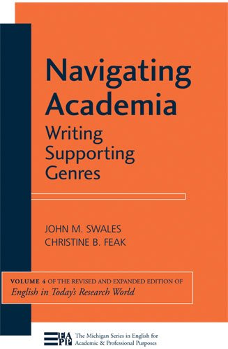 Navigating Academia Writing Supporting Genres  2011 edition cover