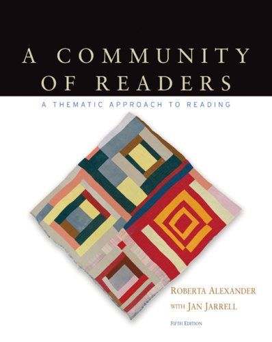 Community of Readers A Thematic Approach to Reading 5th 2010 9780547189536 Front Cover