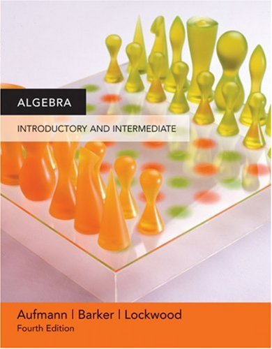 Algebra Introductory and Intermediate 4th 2007 9780618609536 Front Cover