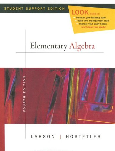 Elementary Algebra  4th 2008 9780618753536 Front Cover