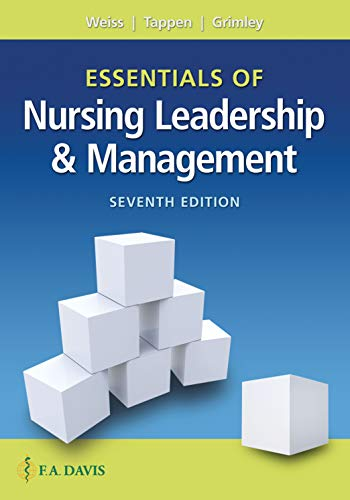 Essentials of Nursing Leadership and Management  7th 2019 (Revised) 9780803669536 Front Cover