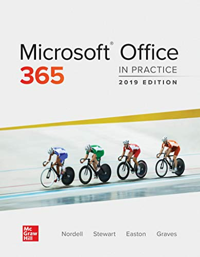 Loose Leaf for Microsoft Office 365: in Practice, 2019 Edition   2020 9781260818536 Front Cover