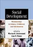 Social Development Relationships in Infancy, Childhood, and Adolescence  2011 edition cover