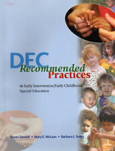 DEC Recommended Practices in Early Intervention/Early Childhood Special Education 1st 2000 edition cover