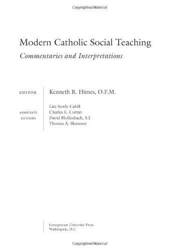 Modern Catholic Social Teaching Commentaries and Interpretations  2005 edition cover