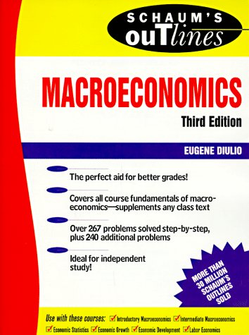 Schaum's Outline of Macroeconomics  3rd 1998 (Revised) edition cover