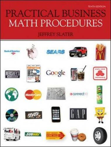 Practical Business Math Procedures  10th 2011 edition cover