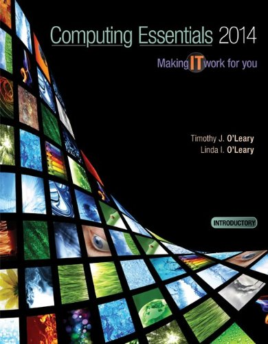 Computing Essentials 2014: Introductory Edition 24th 2013 edition cover
