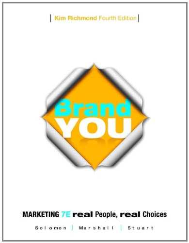 Brand You for Marketing Real People Real Choices 7th 2012 (Revised) edition cover