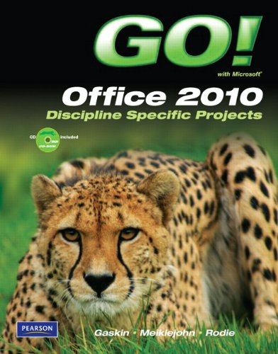 Microsoft Office 2010 Discipline Specific Projects  2011 9780137037537 Front Cover