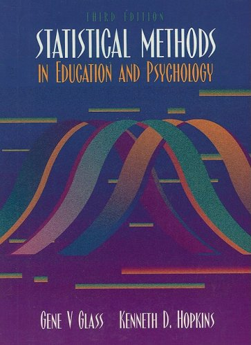 Statistical Methods in Education and Psychology  3rd 1996 9780205673537 Front Cover