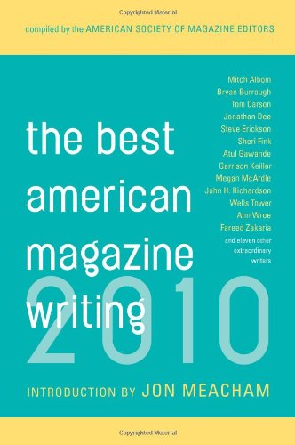 Best American Magazine Writing 2010   2010 edition cover