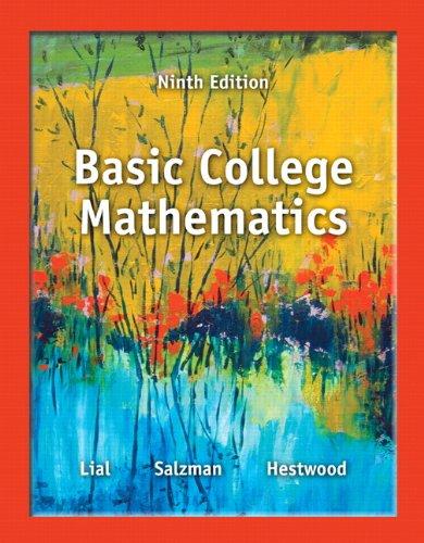 Basic College Mathematics  9th 2014 edition cover