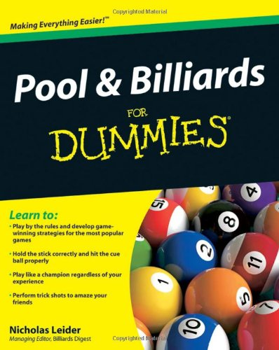 Pool and Billiards for Dummies   2010 edition cover