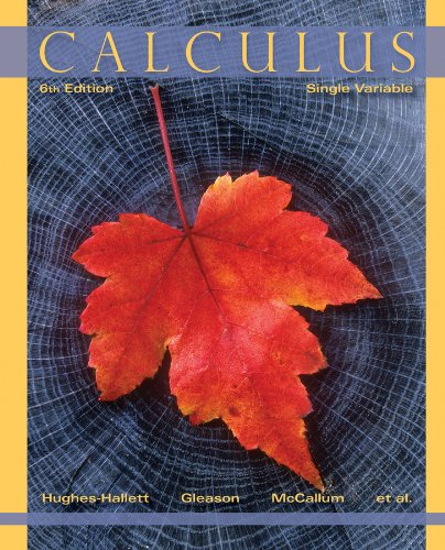 Calculus Single Variable 6th 2013 edition cover