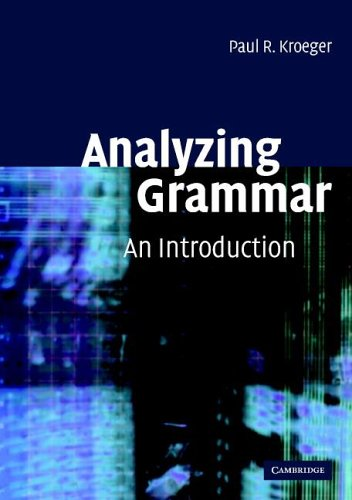 Analyzing Grammar An Introduction  2005 edition cover