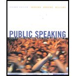 Public Speaking Connecting You and Your Audience 2nd 2002 9780618123537 Front Cover