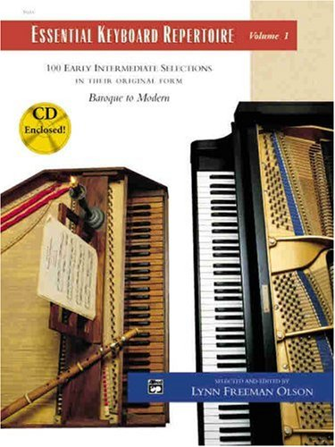 Essential Keyboard Repertoire, Vol 1 100 Early Intermediate Selections in Their Original Form - Baroque to Modern, Book and CD  1998 edition cover