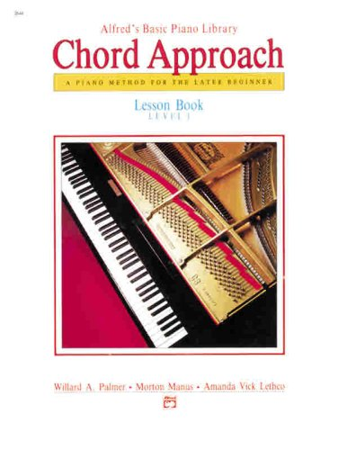 Alfred's Basic Piano Chord Approach Lesson Book, Bk 1 Lesson 1  1987 edition cover